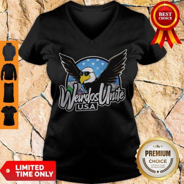 Official Eagles Weirdos Unite U.S.A V-neck