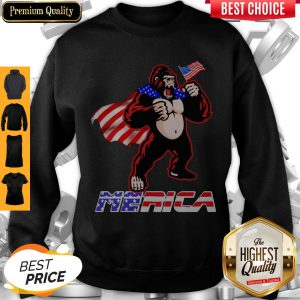Awesome Bigfoot Happy The 4th Of July America Sweatshirt