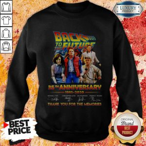 Back To The Future 35th Anniversary 1985 2020 Thank You For The Memories Signatures Sweatshirt