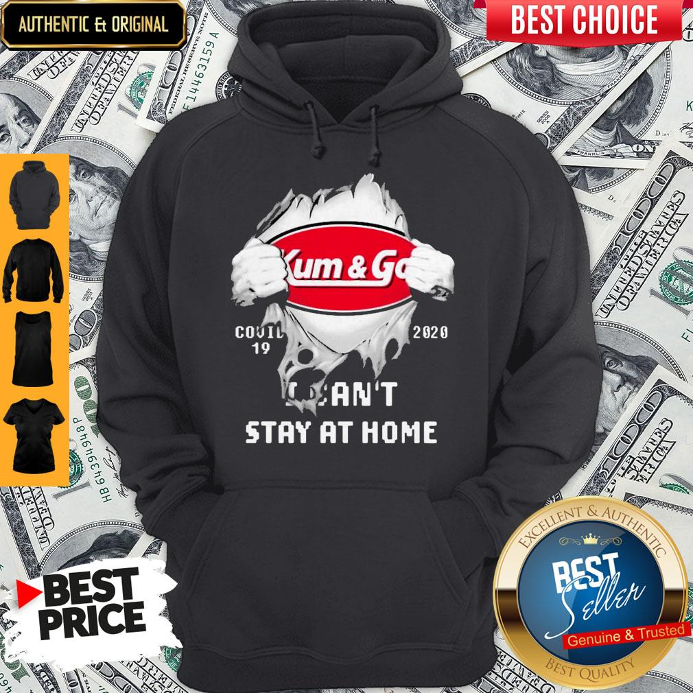 Blood Inside Me Kum & Go COVID-19 2020 I Can't Stay At Home Hoodie