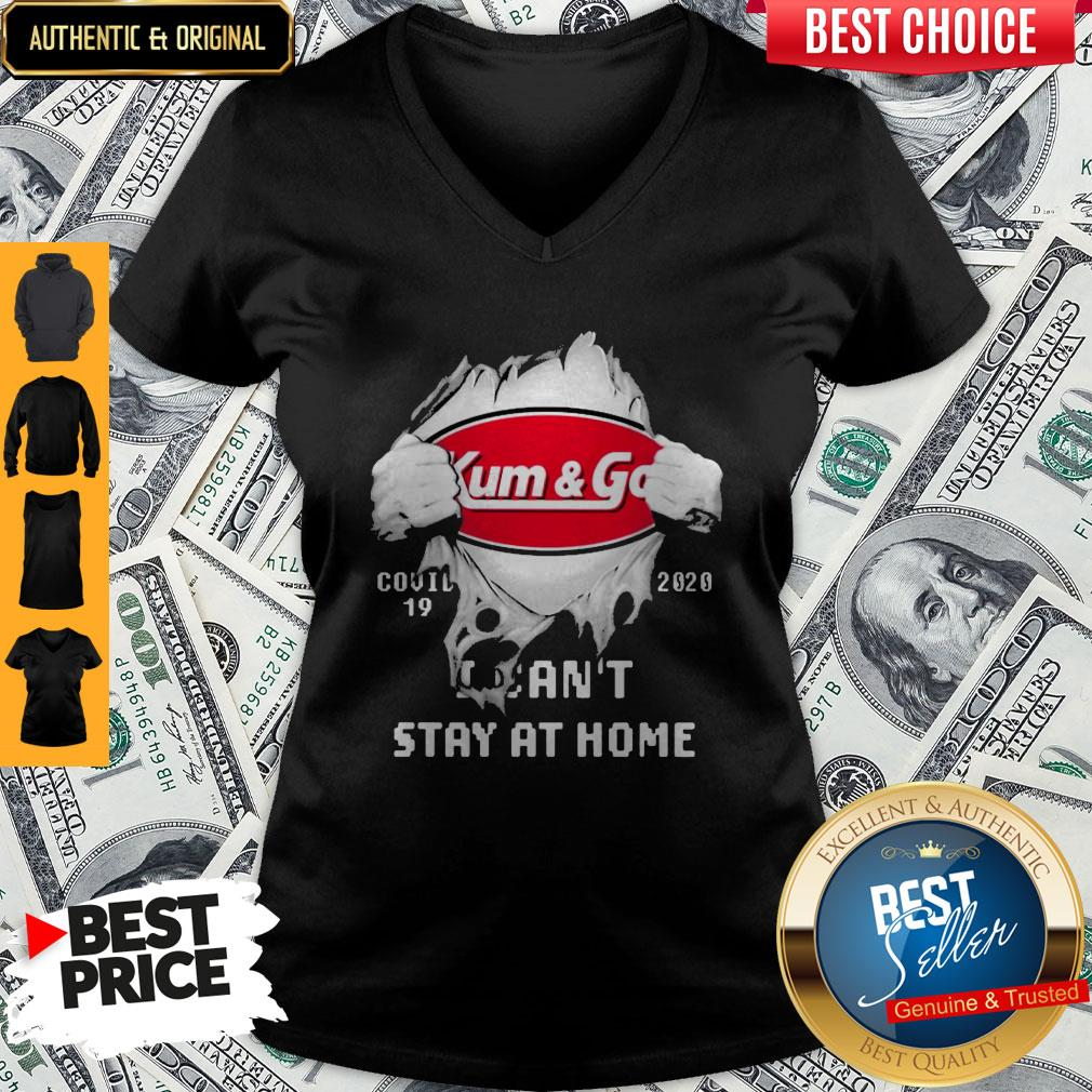 Blood Inside Me Kum & Go COVID-19 2020 I Can't Stay At Home V-neck
