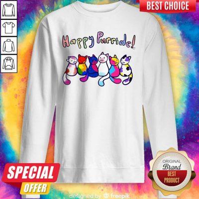 Cute Cats Happy Purride Sweatshirt