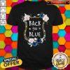 Cute Flower Back The Blue Shirt