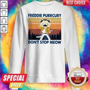 Cute Freddie Purrcury Don't Stop Meow Vintage Sweatshirt