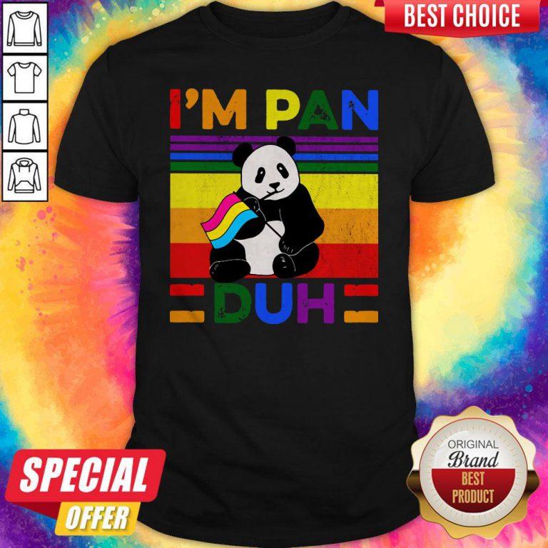Cute LGBT Panda I'm Pan Duh Vintage Shirt