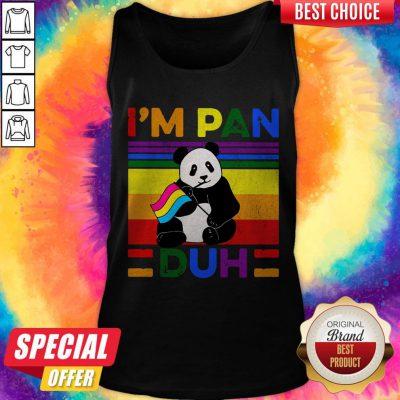 Cute LGBT Panda I'm Pan Duh Vintage Tank Top