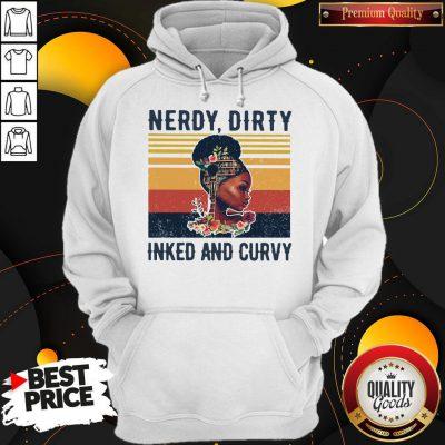 Nice Black Girl Nerdy Dirty Inked And Curvy Vintage Hoodie