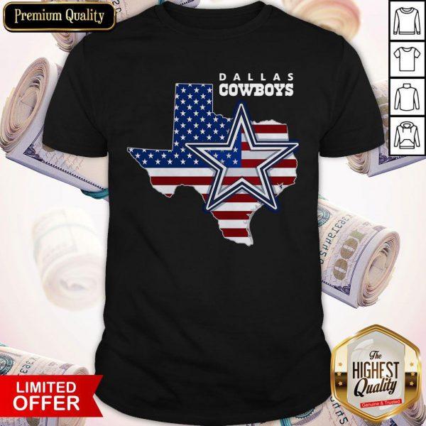 Nice Dallas Cowboys American Map Flag Shirt
