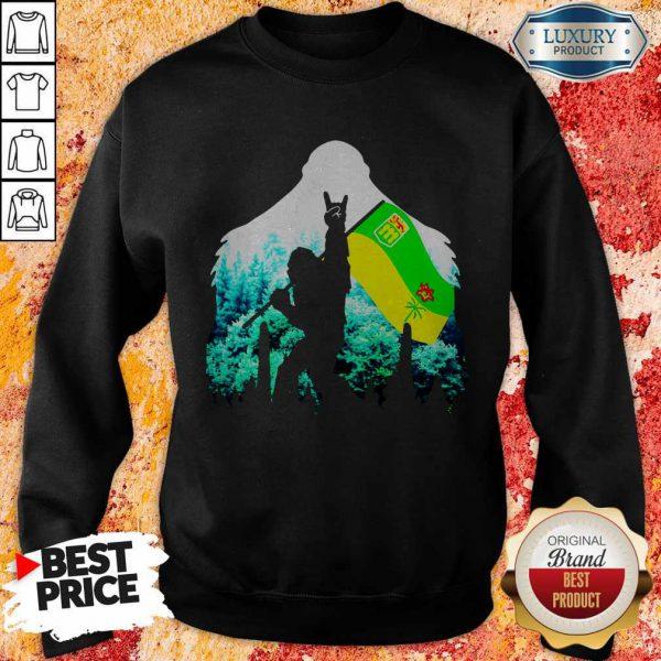 Official Bigfoot Saskatchewan Flag In The Forest Sweatshirt