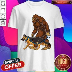 Official Bigfoot Walking German Shepherd Shirt