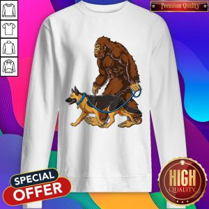 Official Bigfoot Walking German Shepherd Sweatshirt