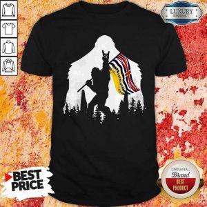 Premium Bigfoot British Columbia Flag In The Forest Shirt