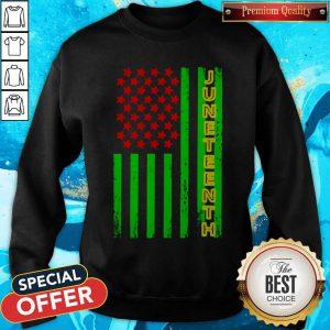 Premium Juneteenth America Flag Sweatshirt