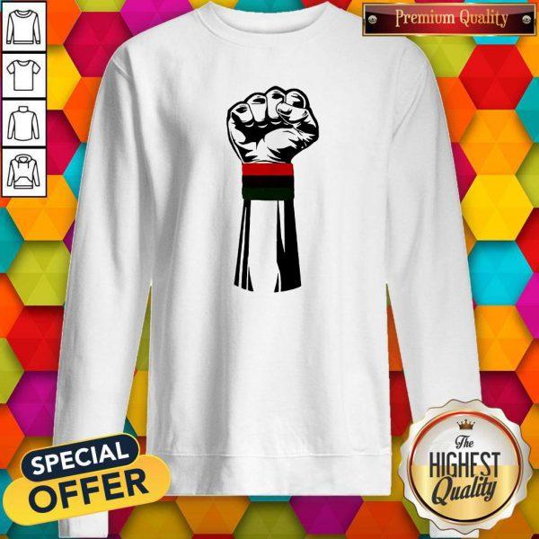 Pretty Black Power Fist Sweatshirt