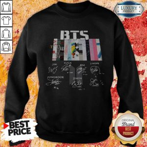 Pretty BTS Graphic Signatures Sweatshirt