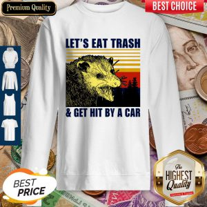 Pretty Let's Eat Trash And Get Hit By A Car Vintage Sweatshirt