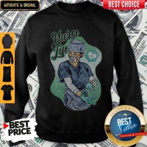 Pretty Nurse Life Fight Pandemic Sweatshirt