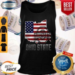 Pretty Ohio State American Flag Tank Top