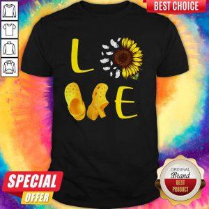 Pretty Sunflower Love Croc Shirt
