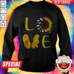 Pretty Sunflower Love Croc Sweatshirt