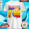 Pretty Witch Ride With Pride LGBT Pride Vintage Shirt