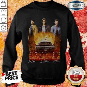Supernatural 2005 2020 15 Seasons 327 Episodes Signatures Sweatshirt