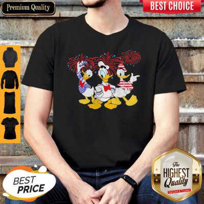Top Donald Duck Happy The 4th Of July America Shirt