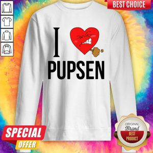 Top I Love Pusen Sweatshirt