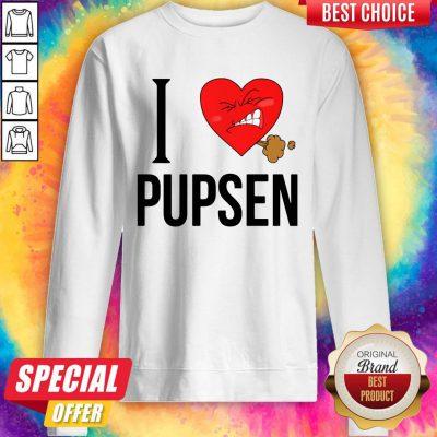Top I Love Pusen Sweatshirt