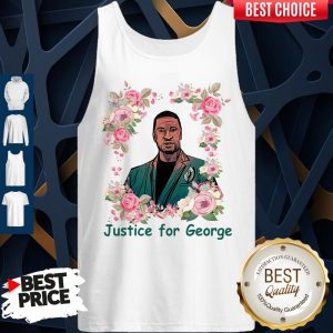 Top Justice For George Floyd Floral I Can't Breathe Tank Top