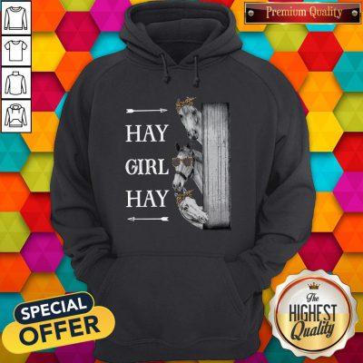 Awesome Horse Hay Girl Hay Hoodie