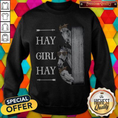 Awesome Horse Hay Girl Hay Sweatshirt