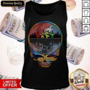 Colorful Skull Grateful Dead Tank Top