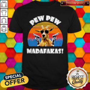 Funny Mountain Goat Pew Pew Madafakas Vintage Shirt