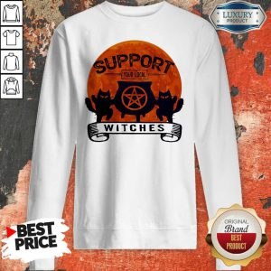 Halloween Support Your Local Witches Blood Moon Sweatshirt