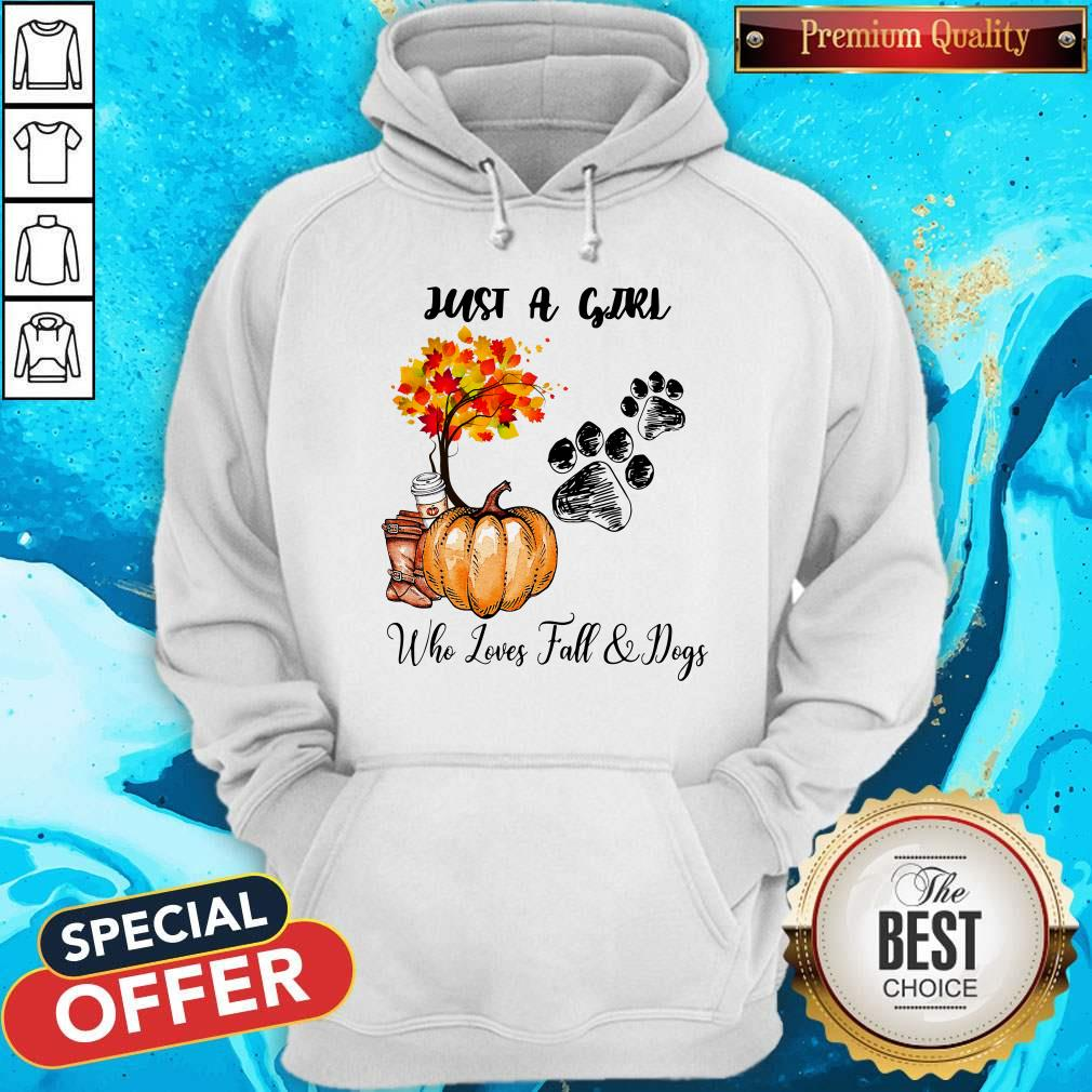 Just A Girl Who Love Fall And Dogs Autumn Pumpkin Hoodie