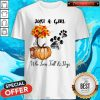 Just A Girl Who Love Fall And Dogs Autumn Pumpkin Shirt