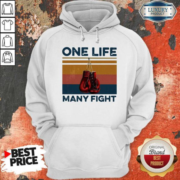 Nice Boxing One Life Many Fight Vintage Hoodie