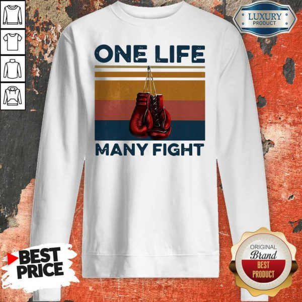 Nice Boxing One Life Many Fight Vintage Sweatshirt
