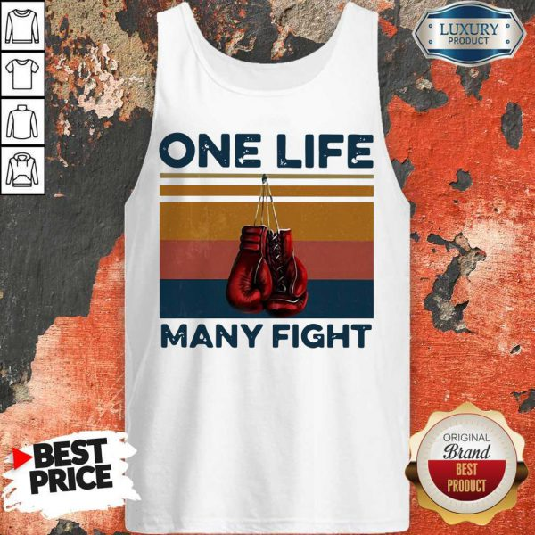 Nice Boxing One Life Many Fight Vintage Tank Top