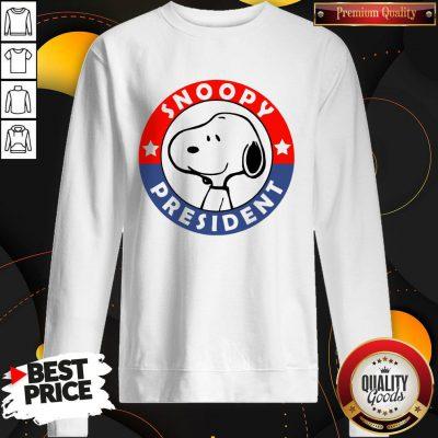 Nice Snoopy President Sweatshirt