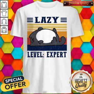 Official Lazy Level Expert Vintage Shirt