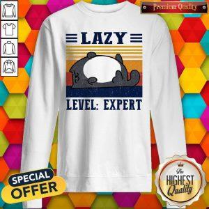 Official Lazy Level Expert Vintage Sweatshirt
