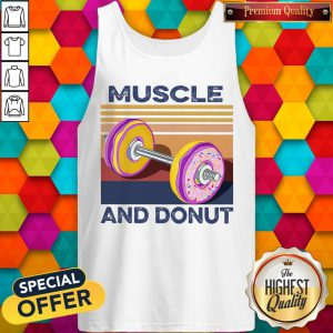 Official Muscle And Donut Vintage Tank Top