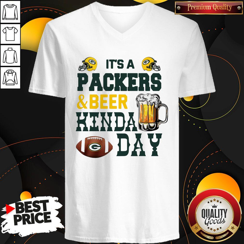 Premium It's A Packers And Beer Kinda Day V-neck