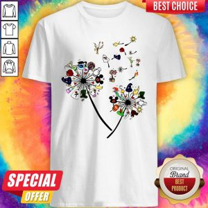 Pretty Cartoon Dandelion Flower Shirt