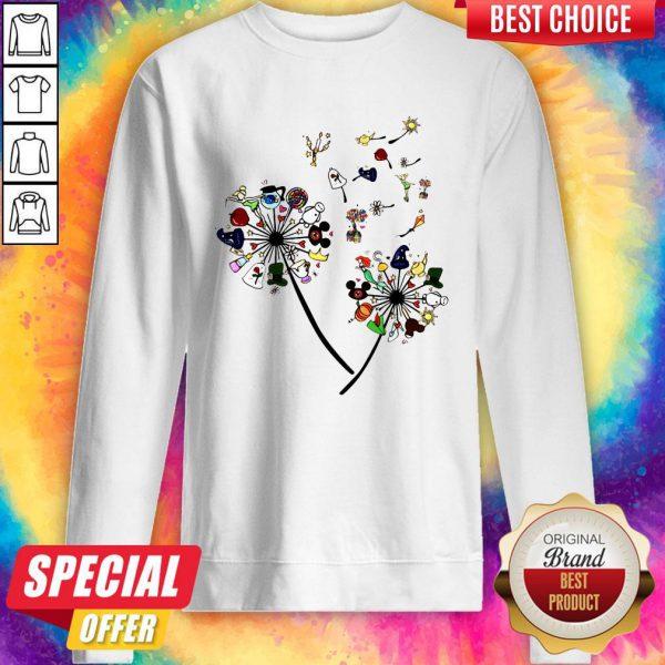 Pretty Cartoon Dandelion Flower Sweatshirt