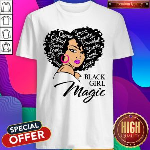 Smart Beauty Powerful Strong Royal Matte Black Girl Magic Shirt