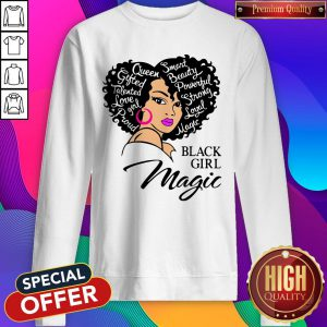 Smart Beauty Powerful Strong Royal Matte Black Girl Magic Sweatshirt