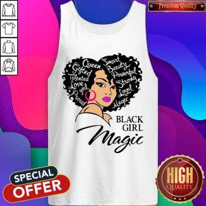 Smart Beauty Powerful Strong Royal Matte Black Girl Magic Tank Top